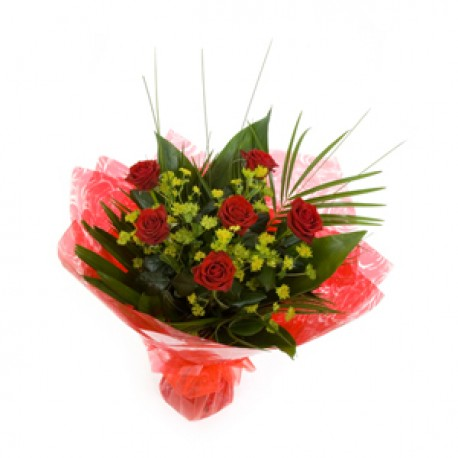 6 RED ROSES JUST BECAUSE......