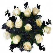 12 WHITE ROSES ( EVERLASTING LOVE)