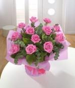 12 Heavenley Pink Roses